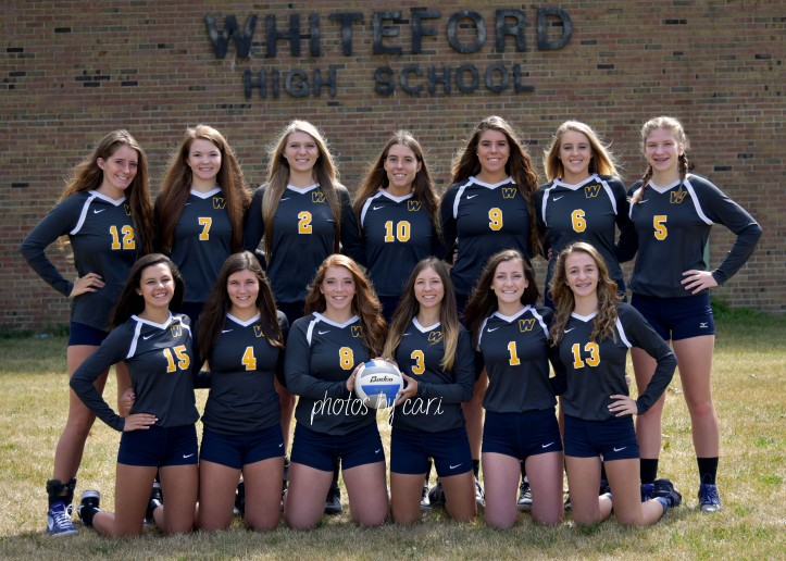 whiteford varsity volleyball 2017 team pic