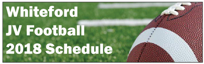 whiteford jv football schedule graphic