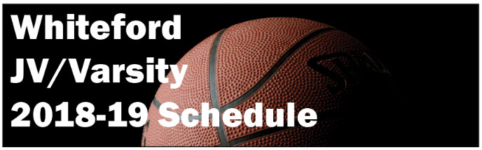 Whiteford jv varsity boys bb schedule graphic
