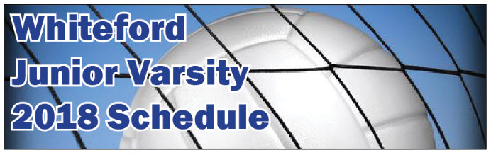 whiteford jv volleyball schedule graphic