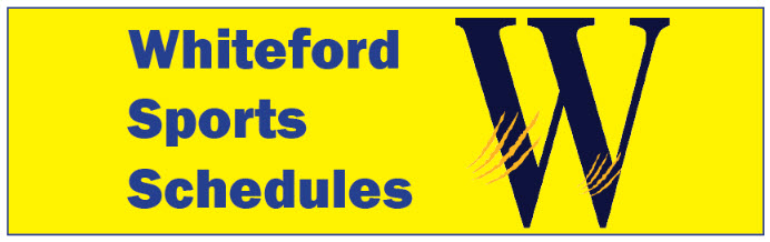 whiteford sports schedules graphic