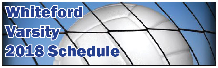 whiteford varsity vb schedule graphic